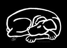 JACQUELINE DITT - Dog Black & White ltd.sign.Druck Grafik gerahmt 13x18 cm Hund