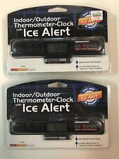 2- RoadPro 3172 Indoor/Outdoor Electronic Thermometer with Ice Alert and Clock