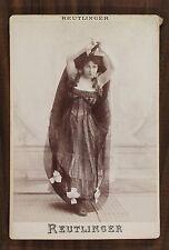 Marguerite Duclere, Chanteuse excentrique, Photo Cabinet card, Reutlinger Paris
