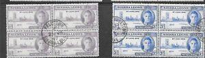 Sierra Leone 1946 victory fine used set as blocks of 4 stamps