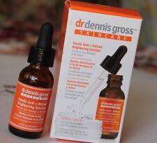 DR DENNIS GROSS FERULIC ACID + RETINOL BRIGHTENING SOLUTION 1 OZ + 30 pads NIB