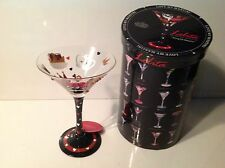 LOLITA Love My Martini KING OF HEARTS Martini Glass ~NEW In BOX~