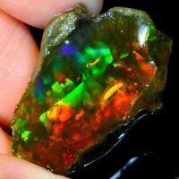 BEST OFFER ! NATURAL PLAY OF COLOR MULTI FLASHING ETHIOPIAN OPAL ROUGH GEMSTONE