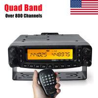 50W Quad Band 2M/6M/10M/70cm 800 Channels Amateur Car Mobile Transceiver