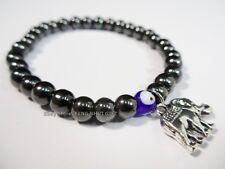 Hematite Magnetic Evil Eye Bead Protection Good Lucky Luck Bracelet Elephant #ed