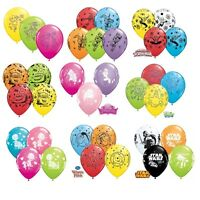 "6 x Character LATEX BALLOONS 11"" - Assorted Colours {Qualatex} (Birthday/Party)"