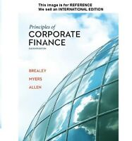 Principles of Corporate Finance by Richard A. Brealey (Int' Ed Paperback) 11 Ed