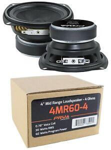 "2x 4"" PRV Mid Range Loud Speaker 4 Ohm 120W Pro Car Audio 4MR60-4"