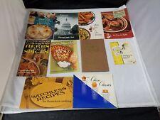 Vintage Recipe Cookbook Booklets: Set of 10, 1940's/1950's Recipes, FREE SHIP
