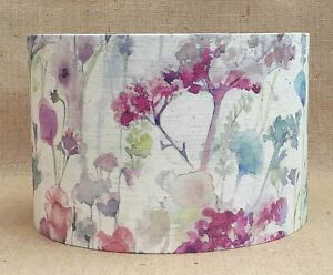 Voyage drum lampshade ILINIZAS summer meadow floral flowers 15 20 25 30 35 40cm