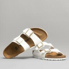 Birkenstock ARIZONA 1005294 Narrow Ladies Womens Buckle Sandals Patent White