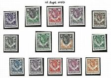 Northern Rhodesia.  1953, definitives, set of 14, Mint, hinged .