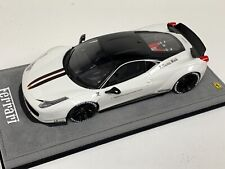 1/18 GT Spirit Ferrari 458 Coupe LB Performance Liberty Walk White Black Wheels