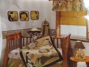 NEW LAMBS & IVY BABY COCOA JUNGLE 10 PIECE CRIB BEDDING SET