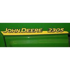 John Deere hood trim decal set for 2305  tractors LVU801815  LVU801816