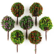 30 Mix 3 Color Flower Model Ball Trees Train Garden Park Scenery 1:100 HO Layout