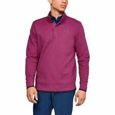 Under Armour Men's Storm Sf Snap Mock Sweater Fleece Golf Shirt Maroon Lg 8398