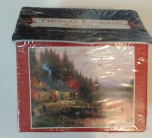NEW Thomas Kinkade The End Of A Perfect Day 100 Piece Miniature Jigsaw Puzzle