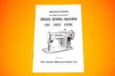 Timing Adjusting Adjusters Manual to Service Singer 185 185J 185K Sewing Machine