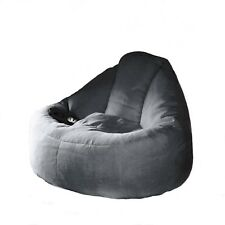 Deluxe Charcoal Plush Lounger Chair FUR BEANBAG Cover Machine Washable Bean  Bag 55f4e7039fd4e