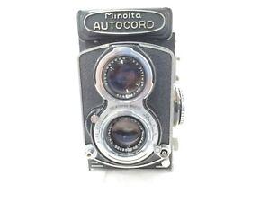【As-is】Minolta AUTOCORD w/ ROKKOR 75mm f3.2 ROKKOR 75mm f3.5 from JAPAN