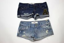 Abercrombie & Fitch Hollister Womens Size 0 W24 Lot of 2 Shorts Denim Distressed