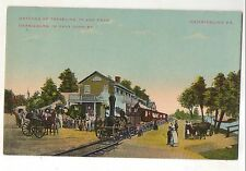 Antique Steam Train, Horse and Buggy in HARRISBURG PA Pennsylvania Postcard