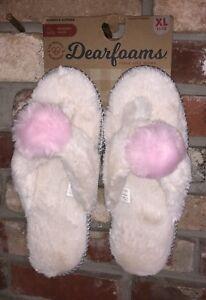 Dearfoams Slippers Size XL 11-12 Super Soft w/Memory Foam