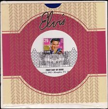 Elvis Presley's Birthday Jan 8 1993 29c Stamp-First Day Issue 45-rpm Program FDC