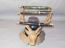 Vintage Elk's Head Pen Rest with Sanford's 8 sided ink bottled