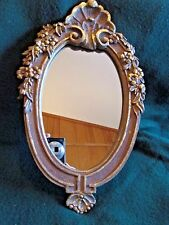 Beautifully gilded wall mirror ornate flowers Vintage romance