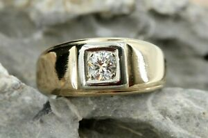 Brillant Gold Ring 585 Gelbgold 14K Solitär 1 Brillant ca. 0,30 ct. VS1 H Gr 58