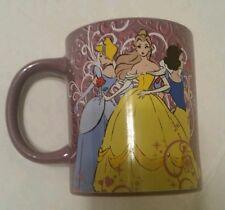 Disney Princess Coffee Mug Belle Snow White Cinderella Pink Purple Cup New 14 oz