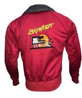 BAYWATCH Bomber Jacket David Hasselhoff Lifeguard Red Jacket - All Sizes