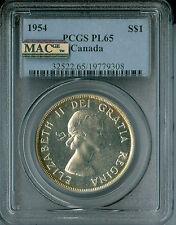 1954 CANADA $1 DOLLAR PCGS MAC PL65 PQ RARE 3,000 MINTED  *