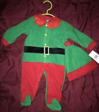 Baby Gear One Piece Christmas Crawler and Hat Sz 0-3 Mos