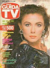 rivista NUOVA GUIDA TV ANNO 1986 NUMERO 20 ELEONORA BRIGLIADORI