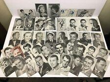 Vintage Movie Star Fan Club Post Card Lot Of 39 Big Names Hollywood Q3