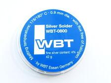 WBT-0800 Silver Solder Lötzinn 42g 0,9mm Silberlötzinn mit blei 4% Silber