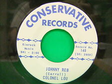 The Jigs - De New Sheriff Colonel Lou Johnny Reb 60s Split 45 Conservative 140
