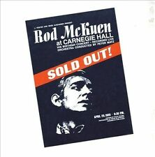 Rod McKuen: Sold Out at Carnegie Hall. (Deluxe Edition) 2CD Set.