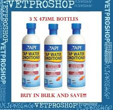 API Aquarium Tapwater Conditioner API Tap Water Conditioner 473ml x 3, FREE SHIP