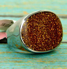 VoE Boutique Golden Stardust Ring Stainless Steel Size 6