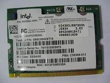 Intel WM3B2200BG 802.11b/g Mini PCI Wireless Card V000021020