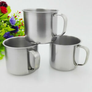 Outdoor Camping Hiking Stainless Steel Coffee Tea Mug Cup Office School Gift New