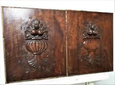 Scroll leaf fruit decorative carving panel Antique french architectural salvage