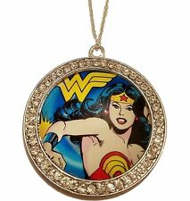 "DC Comics WONDER WOMAN Rhinestone Pendant Necklace with 16"" Chain"