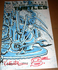 TMNT Micro Series #1 Variant SIGNED Eastman Sketch Teenage Mutant Ninja Turtles