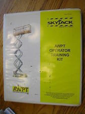 Skyjack Awpt Operator Training Kit Manual Operator Scissor Boom Lifts Log Book