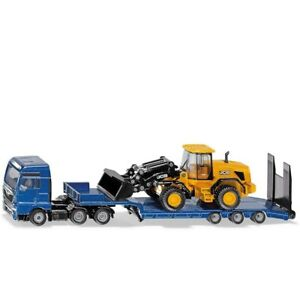 MAN truck with Low Loader and JCB Wheel Loader- 1:87 Scale by Siku - 1790 - New